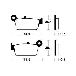 MCB575SI Brzdové destičky TRW-LUCAS