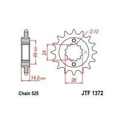 101-555-17 Přední kolečko JT MOTO
