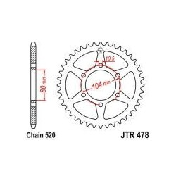 114-463-46 Rozeta JT MOTO