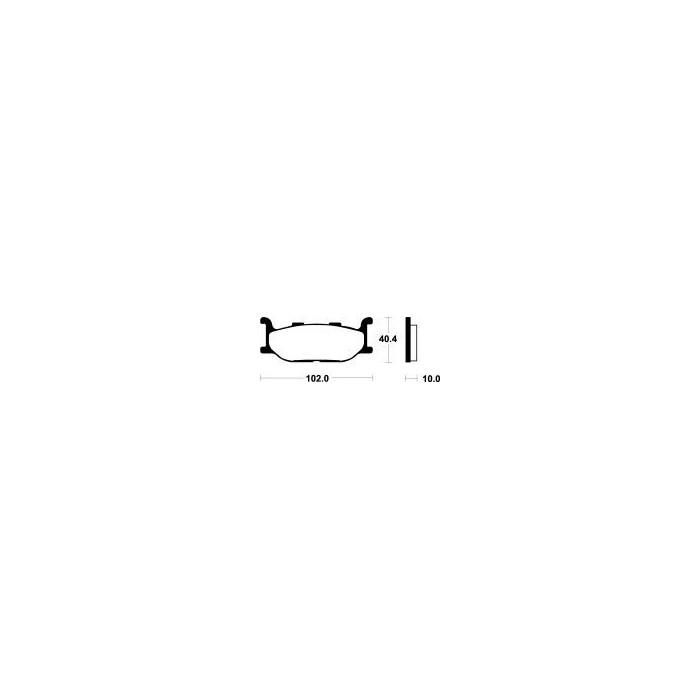 Brzdové destičky NHC (MF 163)