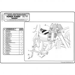 Padací rámy Kappa KN22  Honda XLV600 Transalp 1989-1999