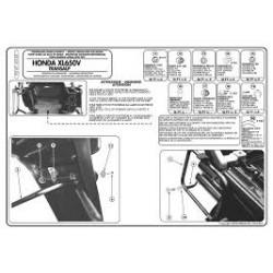 Nosič bočních kufrů KAPPA KL167 Honda XLV 650 Transalp 00-05