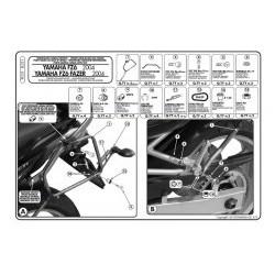 Nosič bočních kufrů KAPPA  KL351 Yamaha FZ6 04-06
