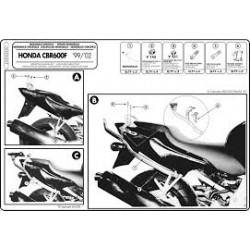 Nosič zadního kufru Kappa K2520 Honda CBR600F 99-07