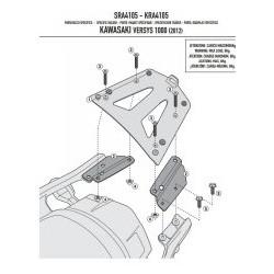Nosič zadního kufru AL Kappa KR4105 Kawasaki Versys 1000 12-16