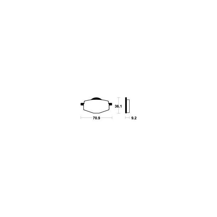 MCB539 Brzdové destičky TRW-LUCAS