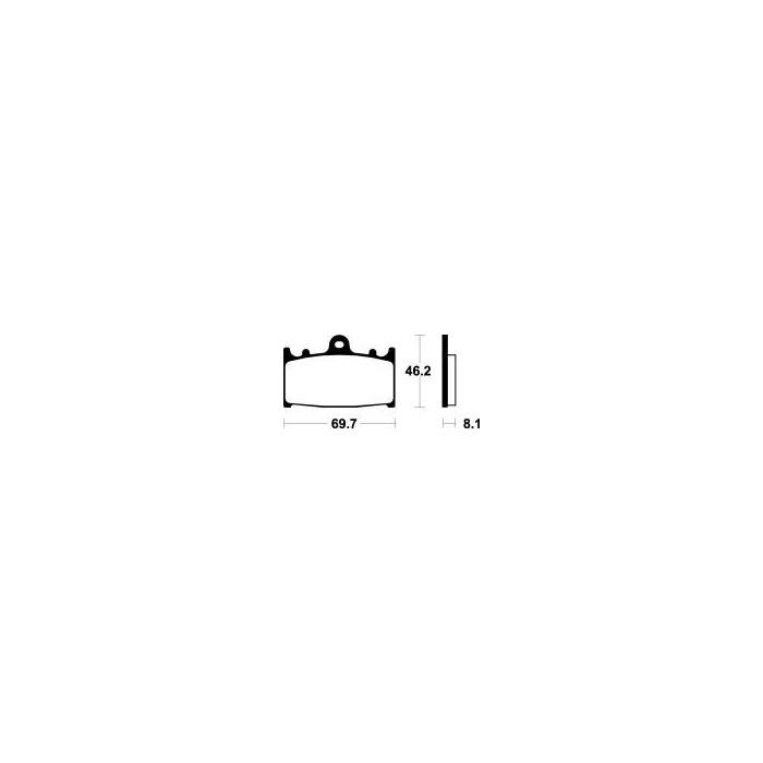 MCB602 Brzdové destičky TRW-LUCAS