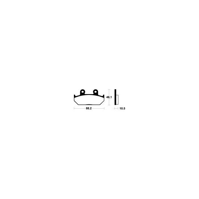 MCB624SV Brzdové destičky TRW-LUCAS