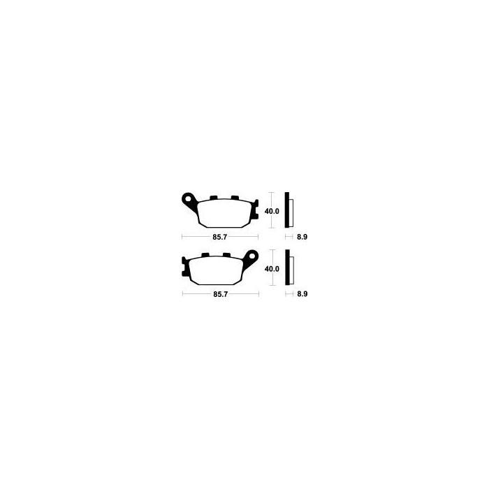 MCB634SH Brzdové destičky TRW-LUCAS