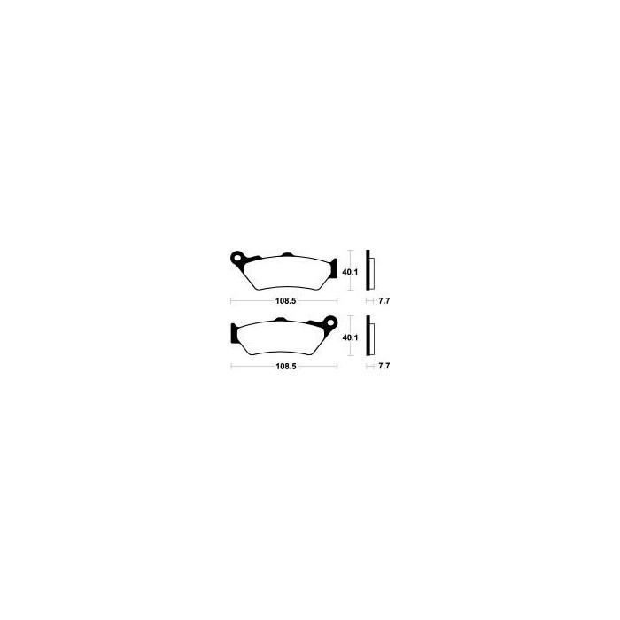 MCB671SV Brzdové destičky TRW-LUCAS