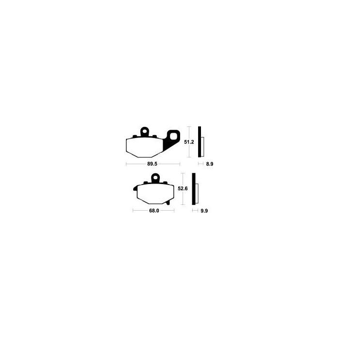 MCB662SH Brzdové destičky TRW-LUCAS