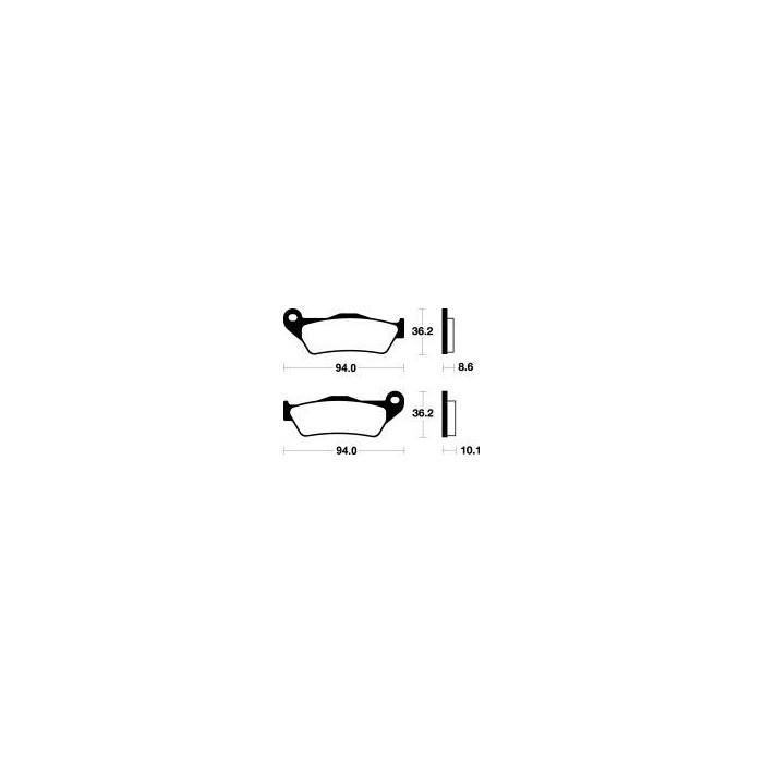 MCB648SH Brzdové destičky TRW-LUCAS