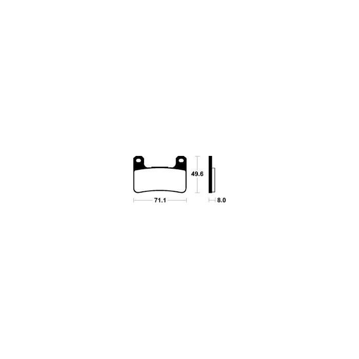 MCB752SV Brzdové destičky TRW-LUCAS
