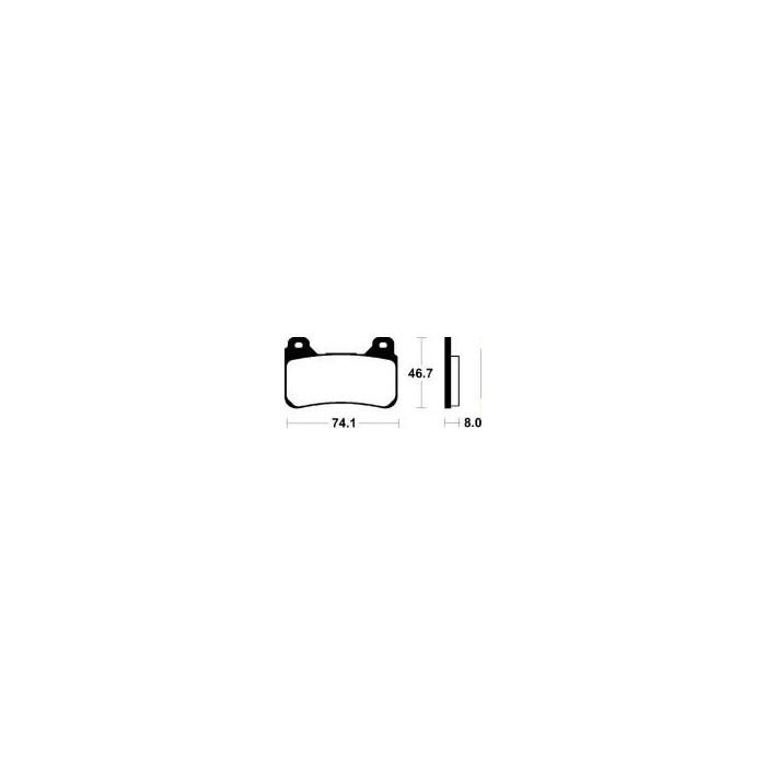 MCB755SRQ Brzdové destičky TRW-LUCAS