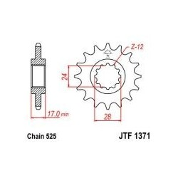 101-551-15 Přední kolečko JT MOTO