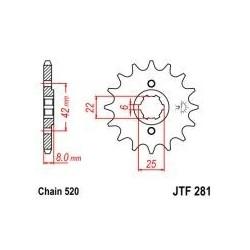101-431-14 Přední kolečko JT MOTO