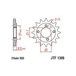 101-462-14 Přední kolečko JT MOTO