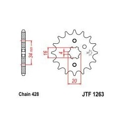 102-329-14 Přední kolečko JT MOTO