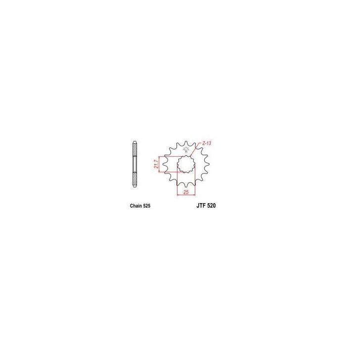 105-563-17 Přední kolečko JT MOTO