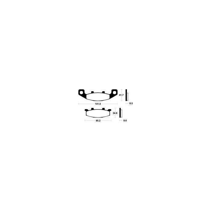 Brzdové destičky NHC (MF 97)