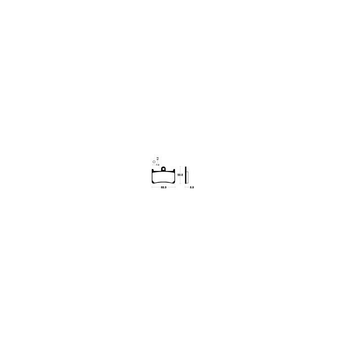 Brzdové destičky NHC (MF 134)