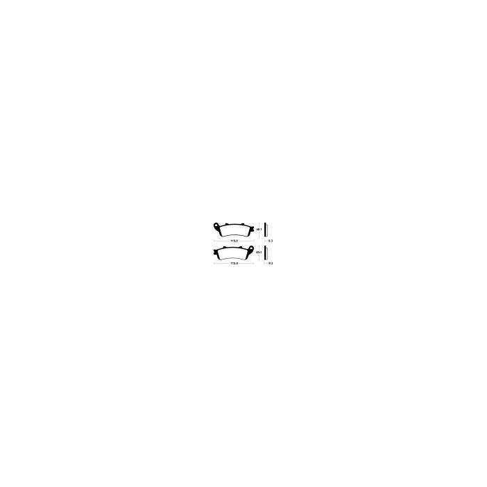 Brzdové destičky NHC (MF 235)