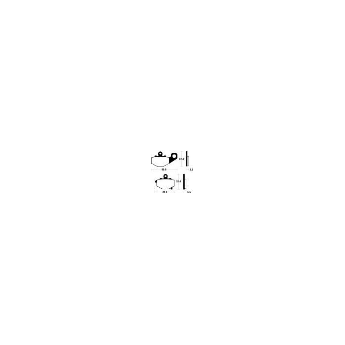 Brzdové destičky NHC (MR 187)