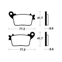 MCB784SH Brzdové destičky TRW-LUCAS
