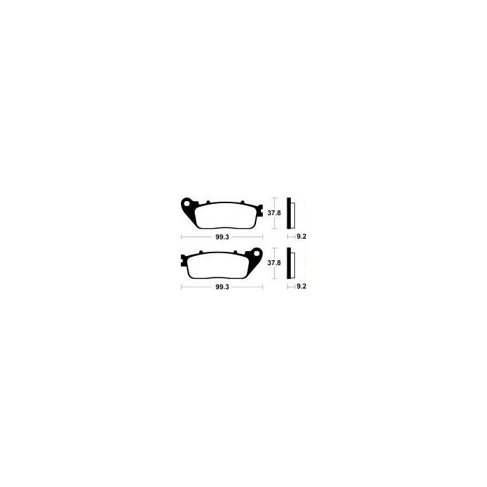 MCB817SH Brzdové destičky TRW-LUCAS