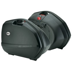 Kappa K33N - 2 černé nelakované boční kufry (2x33 litrů)