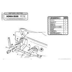 Nosič zadního kufru Kappa K2500 Honda CB500/S 97-05