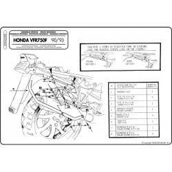 Kappa K2290 nosič zadního kufru Monokey Honda VFR750 F 90-93