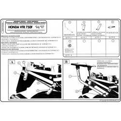 Kappa K2420 nosič zadního kufru  Honda VFR 750 F 94-97