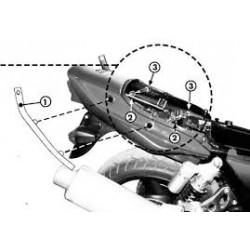 Nosič zadního kufru K4330 Kawasaki ZRX1100/S (97-01) ZRX1200 (01-02)