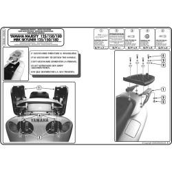 Nosič zadního kufru Kappa KR460 Yamaha Majesty 125-180 (01-11)