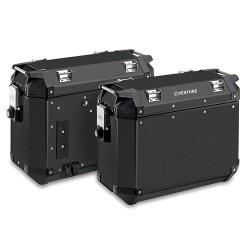 Kappa KVE37B - 2x boční černý hliníkový kufr K-Venture Monokey 37 litrů