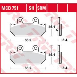 MCB751 Brzdové destičky TRW-Lucas Burgman 400/650 07-zadní